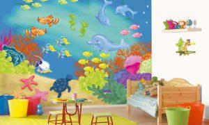 Как оформить стены в детской комнате мальчика или девочки