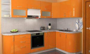 Яркая кухня оранжевого цвета: приятно есть и готовить