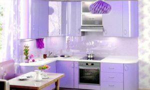 Кухня в сиреневом цвете — это необычно и красиво