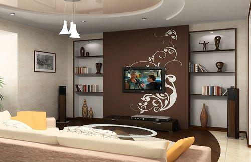 Дизайн стен в маленьком зале