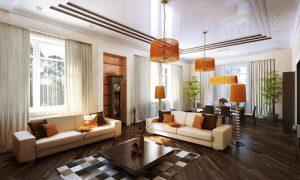 Планируем дизайн зала в частном доме
