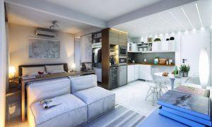 Черпаем идеи: дизайн студии 30 квадратных метров