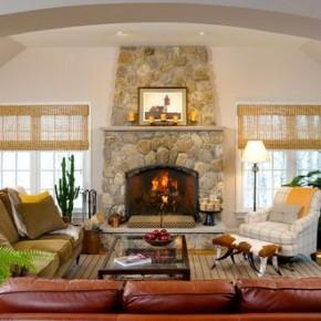 Идеи дизайна гостиной в доме: фото подборка