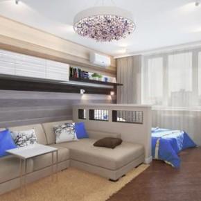 Продумываем функциональный дизайн спальни-гостиной