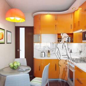 Планировка и интерьер кухни 4 кв метра