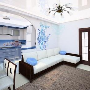 Современный дизайн гостиной 10 квадратных метров