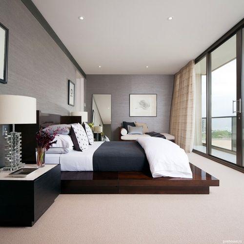 Дизайн спальни 17 метров фото в современном стиле - d8b9
