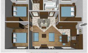 Продумываем проект одноэтажного дома с тремя спальнями