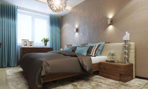 Классические идеи спальни в коричневых тонах