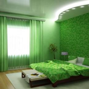 Идеи воплощения спальни в зеленых тонах