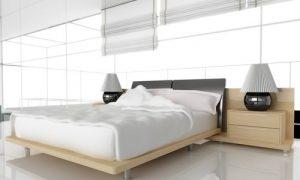 Красивая спальня в светлых тонах у вас дома