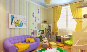 Красивая и просторная детская комната 12 кв. м.