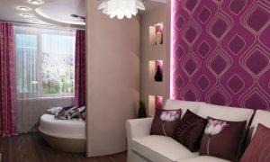 Варианты зонирования пространства в спальне с перегородкой