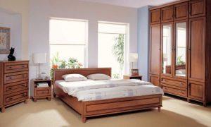 Мебель цвета орех в современной спальне: особенности интерьера