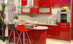 Особенности оформления красного интерьера кухни