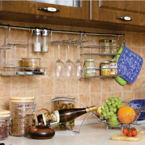 Все про рейлинги для кухни: выбор и установка