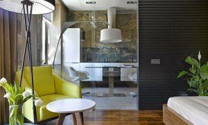 Дизайн однокомнатной квартиры 35 кв.м в современном стиле