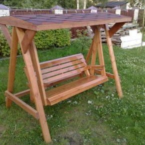 Как сделать садовые качели: выбор вида и материалов для изготовления