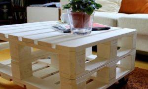 Как самостоятельно сделать стол из поддонов для дачи