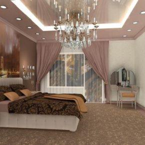 Интересные варианты дизайна освещения в спальне