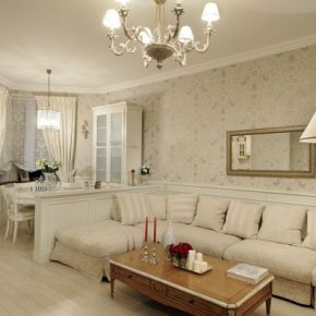 Гостиная с белой мебелью — классический вариант дизайна