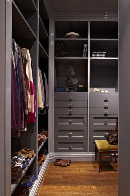 варианты гардеробных комнат из кладовок фото