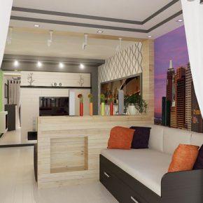 Оформление гостиной с зонированием: варианты для частного дома и квартиры