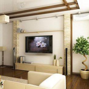 Варианты оформления гостиной с телевизором