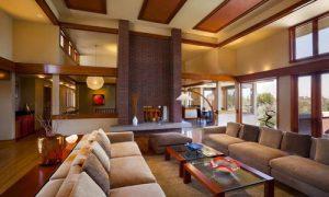 Планировка и интерьер дома в стиле Райта