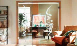 15 вариантов стеклянных дверей в интерьере
