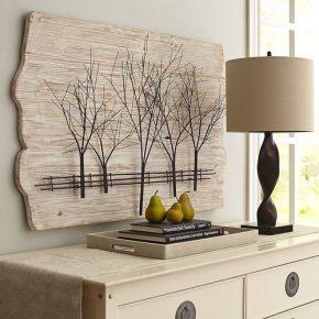 Варианты деревянного панно на стену своими руками