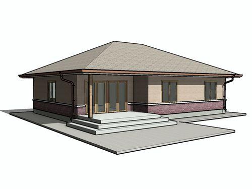 Одноэтажный дом 10 на 10