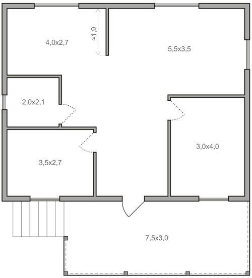 План дома с одним этажом