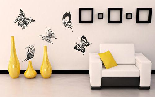 Оформление интерьера бабочками