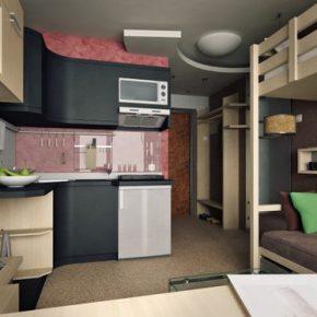 Варианты дизайна квартиры студии 18 кв.м