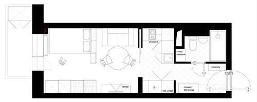 План студии квартиры