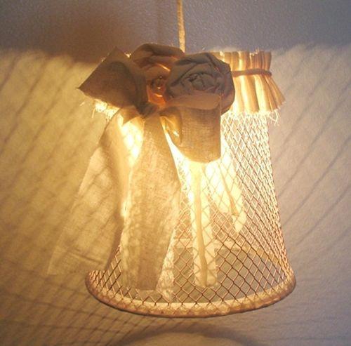 Плафон для люстры своими руками из банок, ниток 100