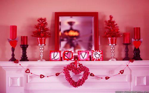 Интерьер в любовном антураже