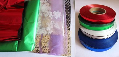 Бумага и лента для упаковки