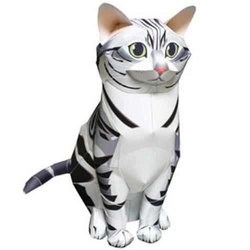 Объемный котенок из бумаги
