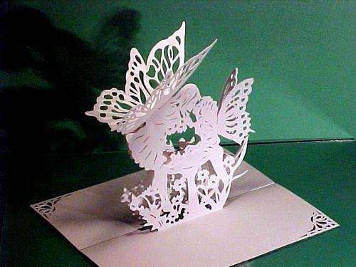 Объемные феи из бумаги