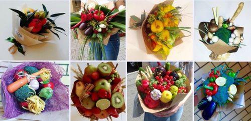 Разнообразие овощных букетов