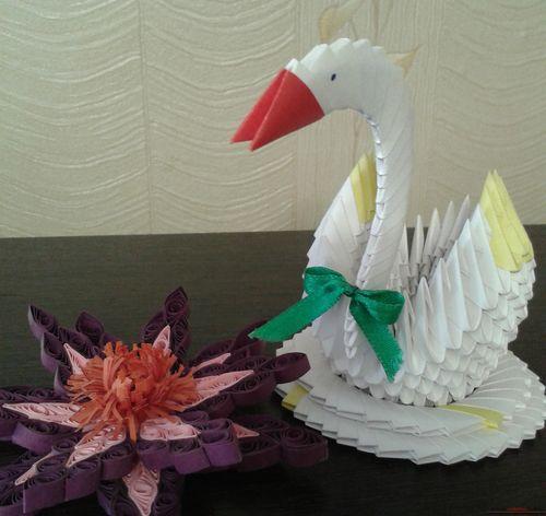 Инструкция как сделать оригами лебедь из модулей