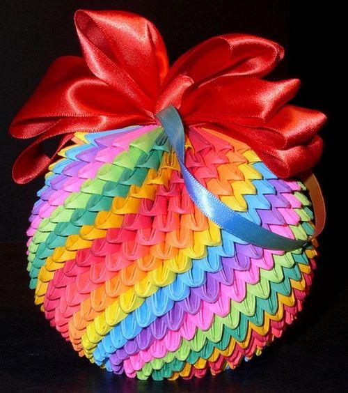 Объемный шар в технике модульного оригами