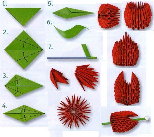 Схема изготовления тюльпана