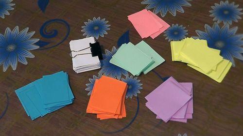 Заготовки из бумаги для модулей оригами