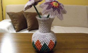 Мастер-класс, как сделать вазу из модулей оригами