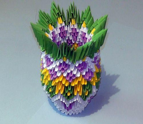 Ваза из модулей оригами