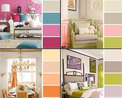 Комбинация цветов в интерьере