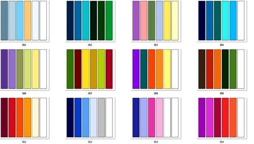 Таблица цветового сочетания